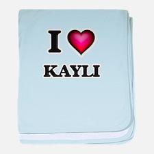I Love Kayli baby blanket