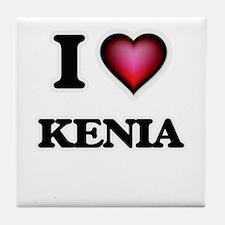 I Love Kenia Tile Coaster