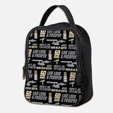 Star Trek 50 Years Pattern Neoprene Lunch Bag