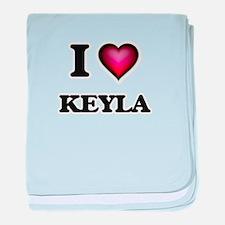 I Love Keyla baby blanket