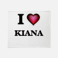I Love Kiana Throw Blanket