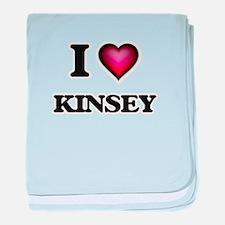 I Love Kinsey baby blanket