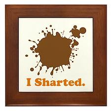 I Sharted Framed Tile