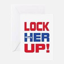 HILLARY LOCK HER UP Greeting Card