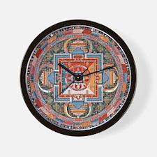 Buddhist Mandala Wall Clock