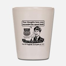Thought Crime Shot Glass