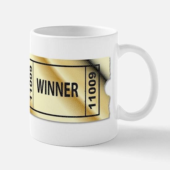 Golden Winner Ticket Mugs