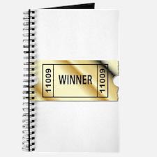 Golden Winner Ticket Journal