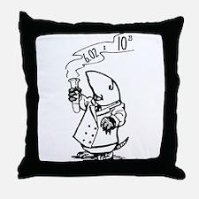 chemistry mole Avogadro's number Throw Pillow