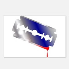 Blooded Razor Blade Postcards (Package of 8)