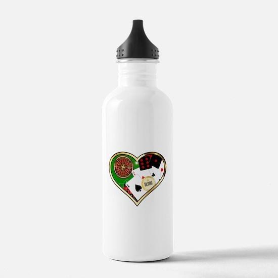 Love Gambling Water Bottle