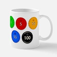 Gambling Chip Set Mugs