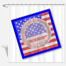 Stars And Stripes Condom Shower Curtain