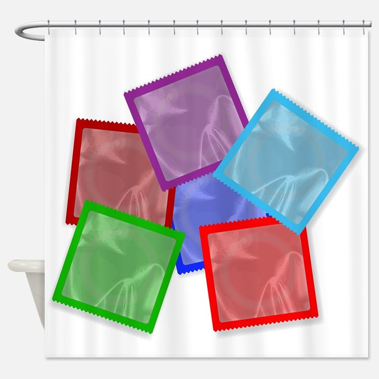 Condom Colour Collection Shower Curtain