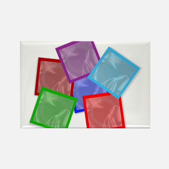 Condom Colour Collection Magnets
