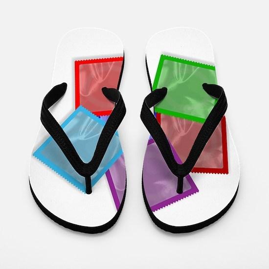 Condom Colour Collection Flip Flops