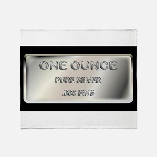 One Ounce Silver Ingot Throw Blanket
