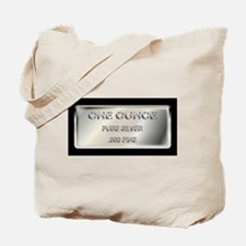 One Ounce Silver Ingot Tote Bag