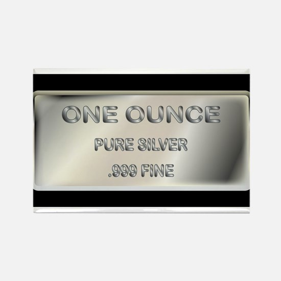 One Ounce Silver Ingot Magnets