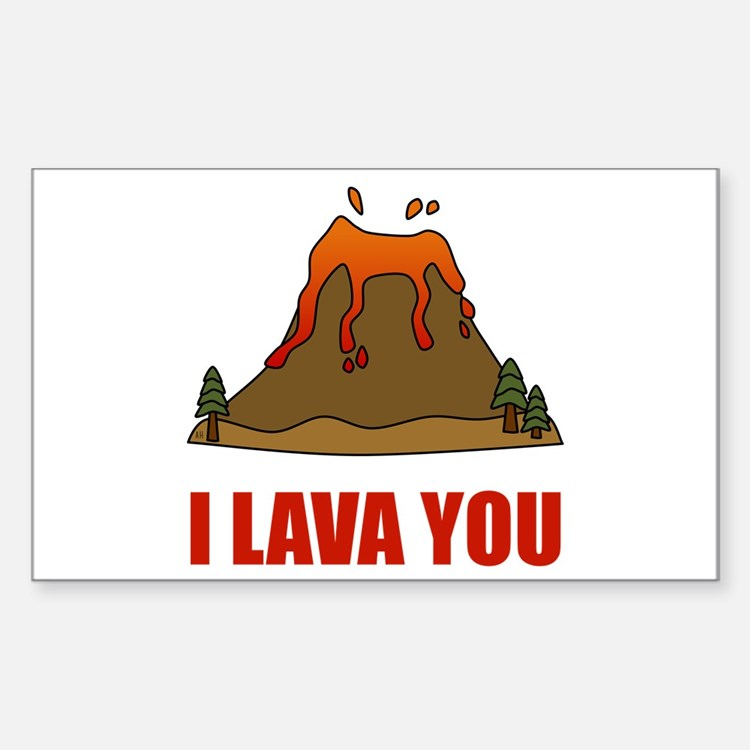 I Lava You Volcano Decal