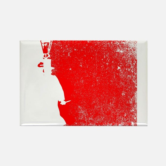 Ripper Red Grunge Magnets