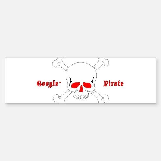 google pirate Bumper Bumper Bumper Sticker