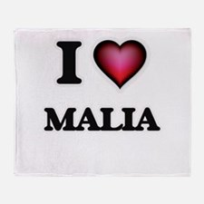 I Love Malia Throw Blanket