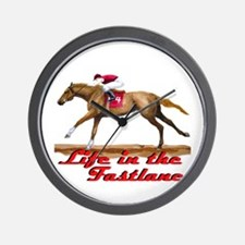 Race Horse, Life in the Fastl Wall Clock