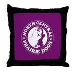 North Central Prairie Dogs Throw Pillow