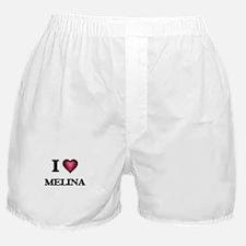 I Love Melina Boxer Shorts