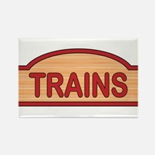 Wooden Trains Sign Magnets