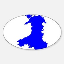 Silhouette Map Of Wales Decal