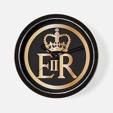 Elizabeth's Reign Emblem Wall Clock