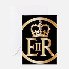 Elizabeth's Reign Emblem Greeting Cards