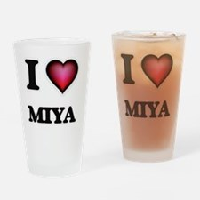 I Love Miya Drinking Glass