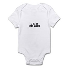 13 is my lucky number Infant Bodysuit