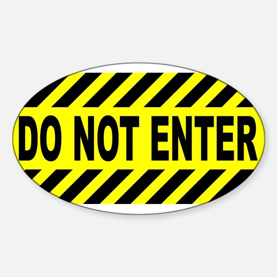 Yellow And Black Do Not Enter Sign Decal