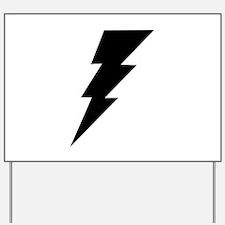 The Lightning Bolt 6 Shop Yard Sign