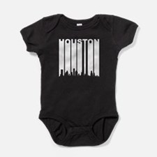Retro Houston Cityscape Baby Bodysuit