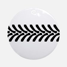 Tractor Tyre Tread Marks Round Ornament