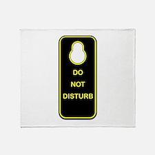 Door Knob Sign Throw Blanket