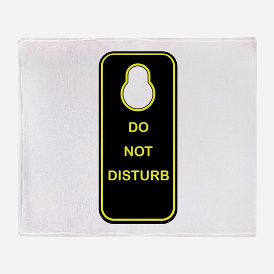 Door Knob Sign Throw Blanket