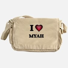 I Love Myah Messenger Bag