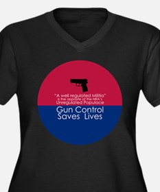Gun Control Saves Plus Size T-Shirt