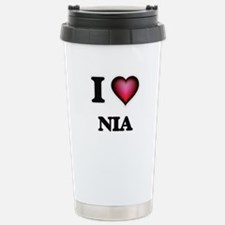 I Love Nia Stainless Steel Travel Mug