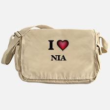 I Love Nia Messenger Bag