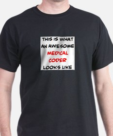 awesome medical coder T-Shirt