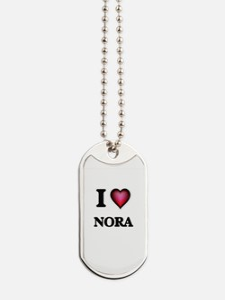 I Love Nora Dog Tags