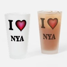 I Love Nya Drinking Glass