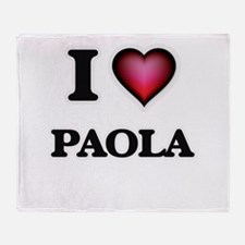 I Love Paola Throw Blanket